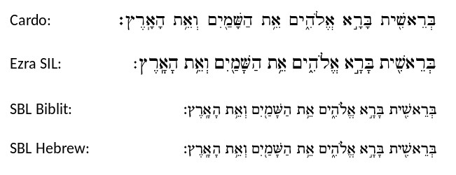 Biblical Hebrew Fonts - BibleTech